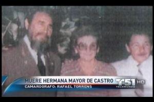 Los Castro: Ramón, Enma, Fidel, Ángela, Raúl y Agustina, en 1985.